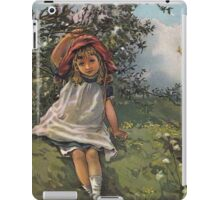 Little Girl At Play-Available As Art Prints-Mugs,Cases,Duvets,T Shirts,Stickers,etc iPad Case/Skin