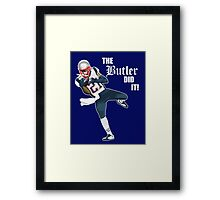 New England Patriots - Malcolm Butler 'The Butler Did It!' Framed Print