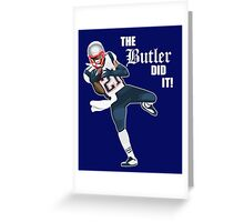 New England Patriots - Malcolm Butler 'The Butler Did It!' Greeting Card