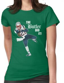 New England Patriots - Malcolm Butler 'The Butler Did It!' Womens Fitted T-Shirt