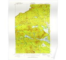 Maine USGS Historical Map Attean 460125 1925 62500 Poster