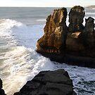 Pancake Rocks...Punakaiki, New Zealand by Magee