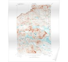 Maine USGS Historical Map Attean 460126 1923 62500 Poster