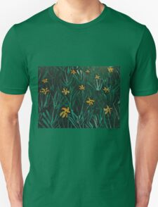 Yellow Flowers  Green Grass Unisex T-Shirt
