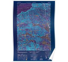 Maine USGS Historical Map Attean 806468 1950 50000 Inversion Poster