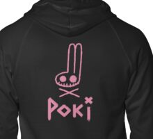 Poki skull and crossbones Zipped Hoodie