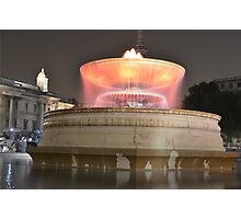 Trafalgar Square Fountain-Orange Photographic Print