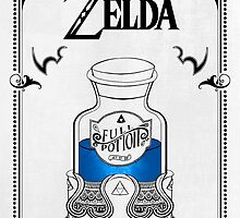 Zelda legend Blue potion by artetbe