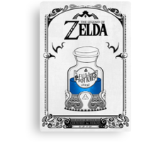 Zelda legend Blue potion Canvas Print