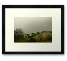 View from Northfields, Twyford Framed Print