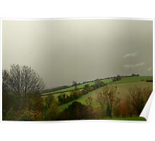 View from Northfields, Twyford Poster