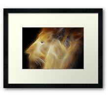 the lion of oz Framed Print