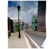 Old San Juan Streets Poster