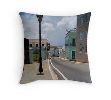 Old San Juan Streets Throw Pillow