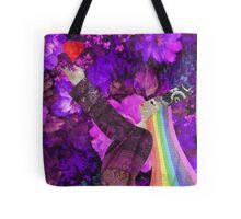 Rainbow Queen of Hearts Tote Bag