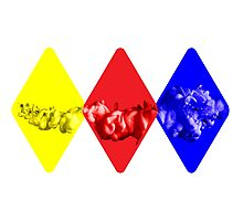 Coloured Smoke Diamonds Photographic Print