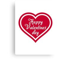 Happy Valentine's day red heart Canvas Print