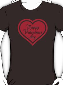 Happy Valentine's day red heart T-Shirt
