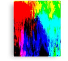 Abstract Painting Modern Original Art Acrylic Titled: Wild Colorful Mashup Canvas Print