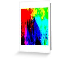 Abstract Painting Modern Original Art Acrylic Titled: Wild Colorful Mashup Greeting Card