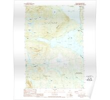 Maine USGS Historical Map Attean Pond 460127 1989 24000 Poster