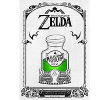 Zelda legend Green potion Photographic Print