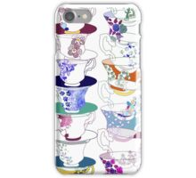 Stacked Teacups iPhone Case/Skin