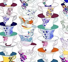 Stacked Teacups by redman1
