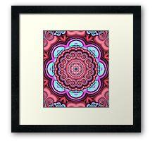 Floral kaleidoscope with fantasy flower Framed Print