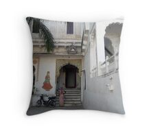 Haveli in Jodhpur Throw Pillow