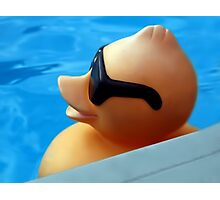 I WEAR MY SUNGLASSES...CUTE FLOATING DUCK PICTURE AND OR PRINT ECT. Photographic Print