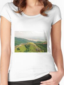 Balkan Landscapes, Shipka, Bulgaria Women's Fitted Scoop T-Shirt