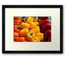 Orange, yellow and red Framed Print