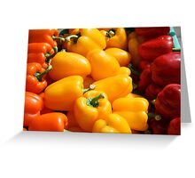 Orange, yellow and red Greeting Card