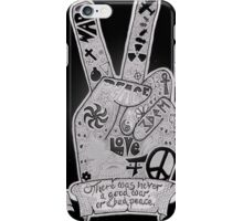 Peace and War handdrawn illustration  iPhone Case/Skin