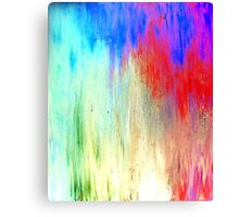 Modern Original Art Abstract Titled: Summer Breeze Canvas Print