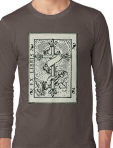 Ex Libris Cross Banner & Fleur De Lys Long Sleeve T-Shirt