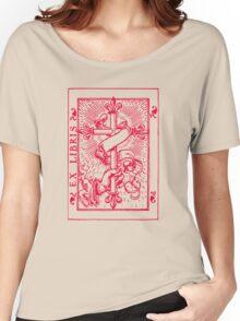 Cross Banner & Fleur De Lys Women's Relaxed Fit T-Shirt
