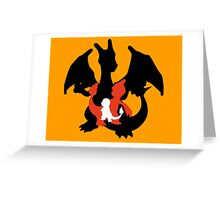 Charmander - Charmeleon - Charizard Greeting Card