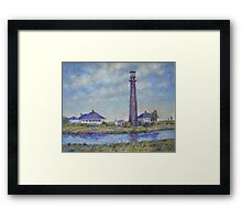Port Bolivar Lighthouse and Outbuildings Framed Print
