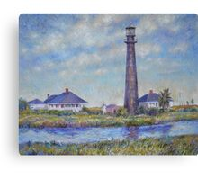 Port Bolivar Lighthouse and Outbuildings Canvas Print
