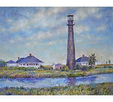 Port Bolivar Lighthouse and Outbuildings Photographic Print