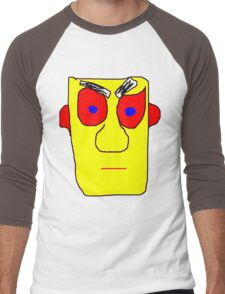 Yellow Face Men's Baseball ¾ T-Shirt