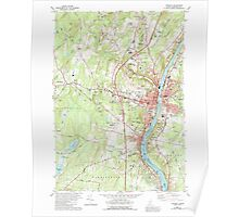 Maine USGS Historical Map Augusta 104881 1980 24000 Poster