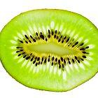 Kiwi fruit slice by Johan Larson