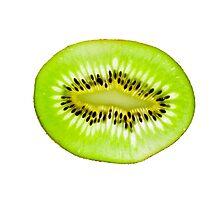 Kiwi fruit slice Photographic Print