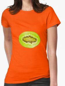 Kiwi fruit slice Womens Fitted T-Shirt