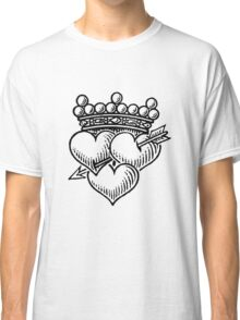 Three Hearts Crown & Dagger Classic T-Shirt