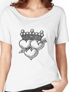 Three Hearts Crown & Dagger Women's Relaxed Fit T-Shirt