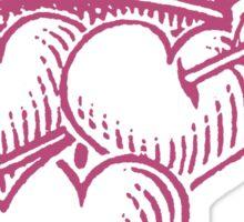 Three Hearts Crown & dagger Sticker